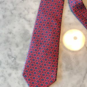Authentic 100% silk Hermès tie